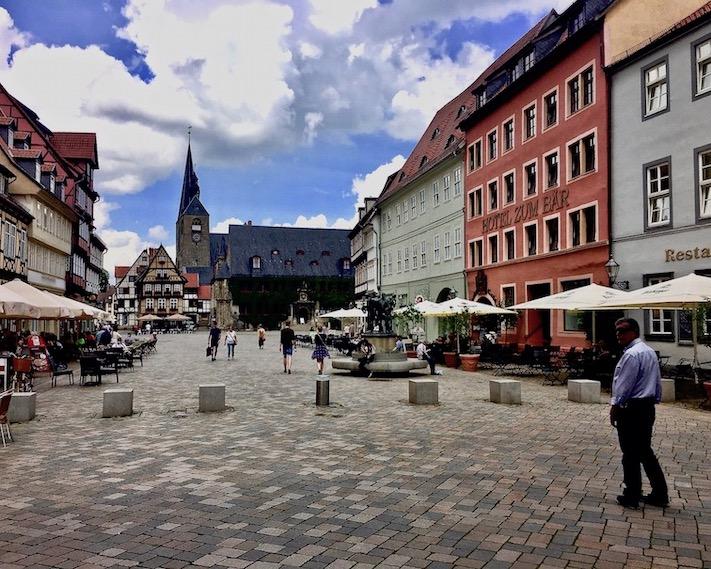 Marktplatz in Quedlinburg Deutschland