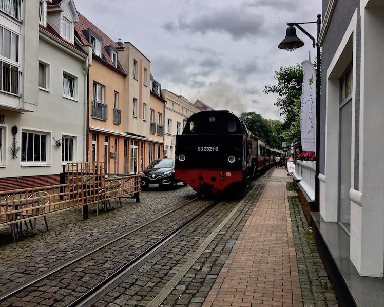 Molli-Bäderbahn Fahrt durch Bad Doberan