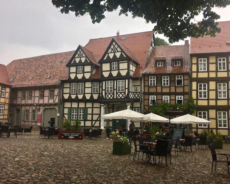 Platz am Schloßberg-Quedlinburg Deutschland Kloppstockhaus und Lyonel-Feininger-Galerie