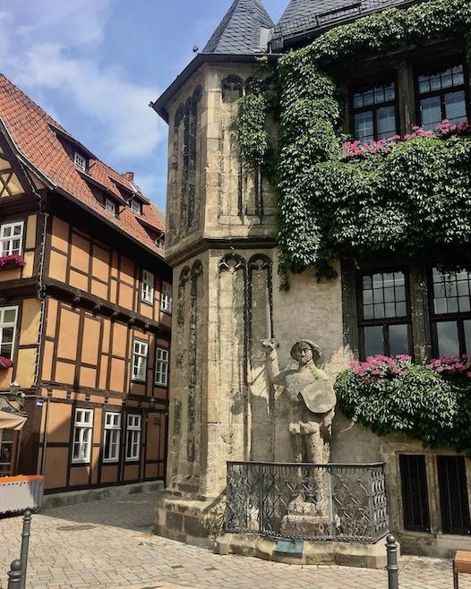 Quedlinburger Roland am Rathaus Quedlinburg Deutschland