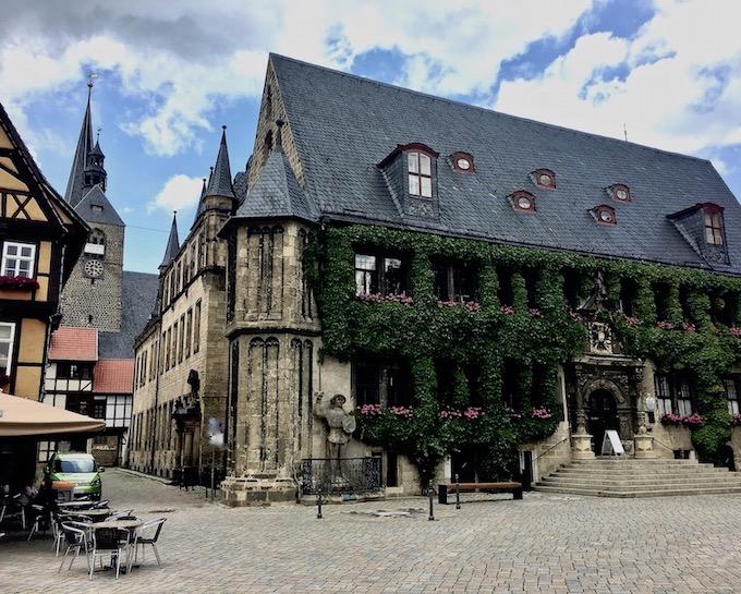 Rathaus von Quedlinburg Deutschland