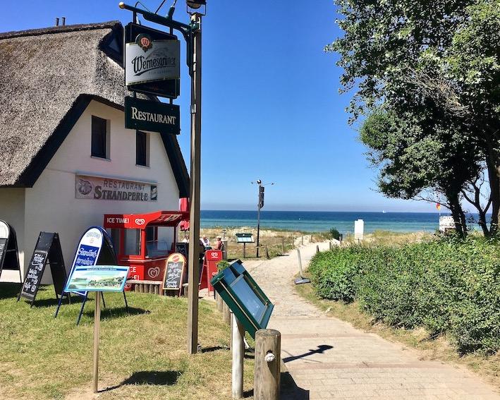Restaurant Strandperle am Strand Schwarzer Busch Insel Poel Ostsee