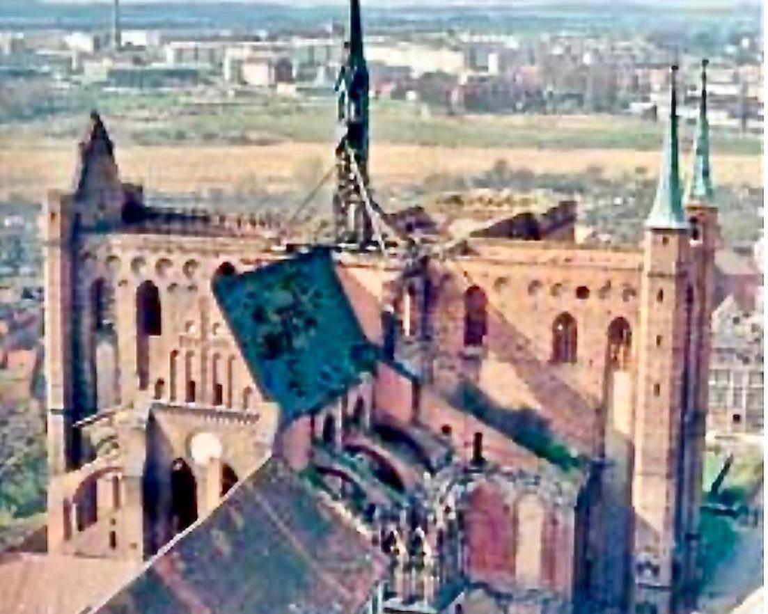 St.Georgen zu Wismar Historisches Foto der Zerstörung Wismar Deutschland