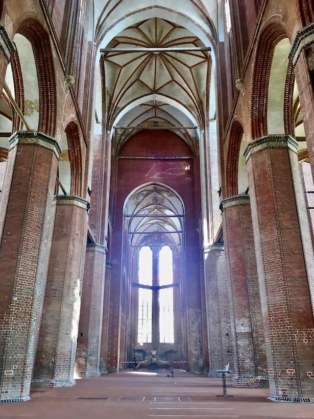 St.Georgen zu Wismar Innenraum Blick zum Chor Wismar Deutschland