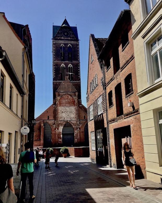 St.Marien zu Wismar Blick auf den Turm von Osten Wismar Deutschland