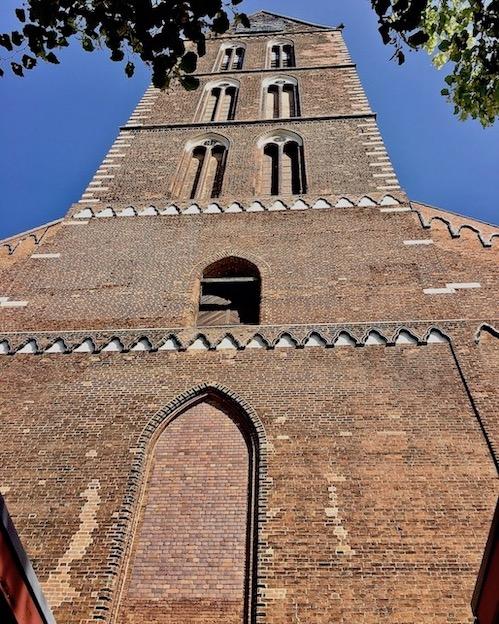 St.Marien zu Wismar Westansicht des Kirchturms
