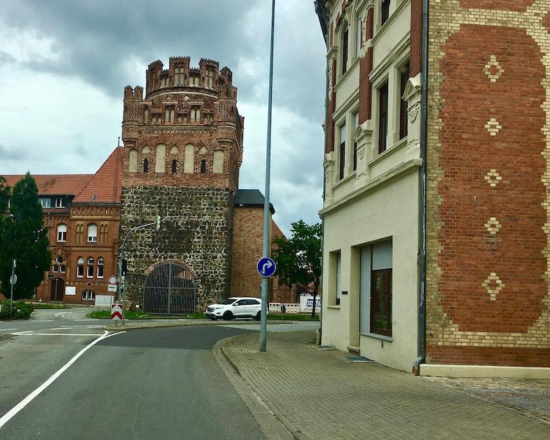 Tangermünder-Tor Backsteingotik Stendal in Sachsen-Anhalt Deutschland