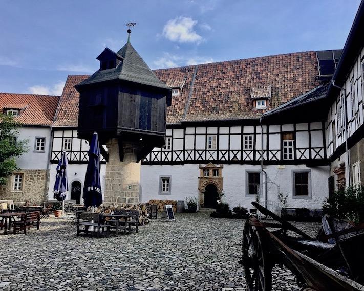 Taubenturm im Adelshof Quedlinburg Deutschland