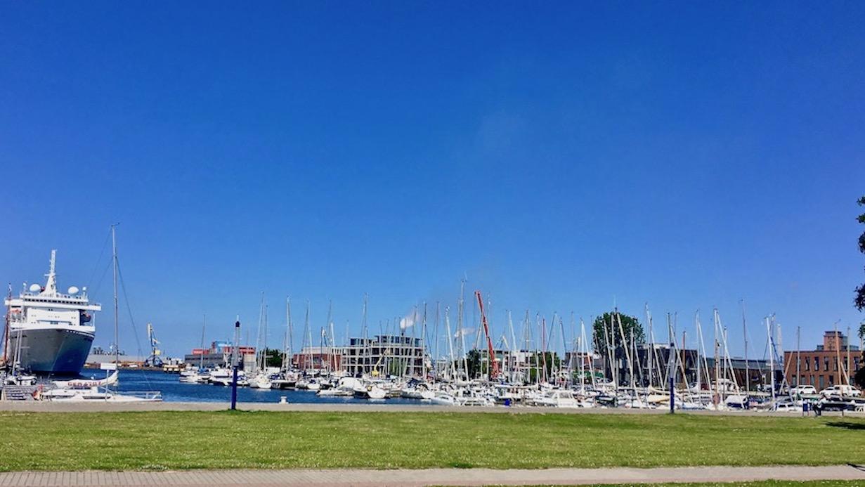 Westhafen in Wismar Deutschland