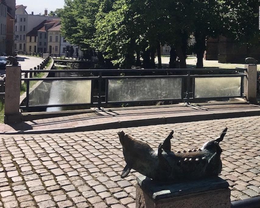 Wismar Schweinsbrücke über die Mühlengrube Detail Wismar Deutschland