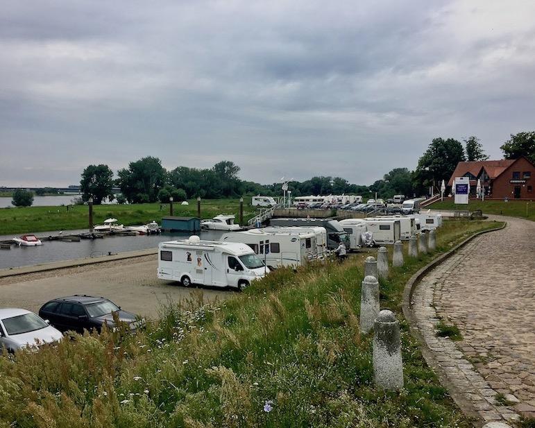 Wohnmobil-Stellplatz Sportbootanger-Nedwighafen Wittenberge Deutschland
