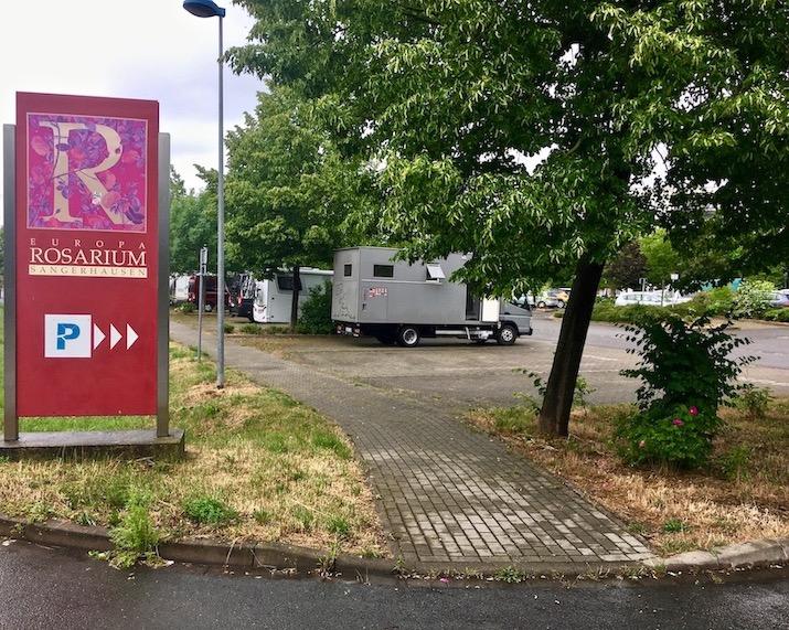 Wohnmobil-Stellplatz am Europa-Rosarium Sangerhausen mit mole-on-tour