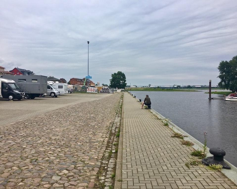 Wohnmobil-Stellplatz mole-on-tour Sportbootanger-Nedwighafen Wittenberge Deutschland