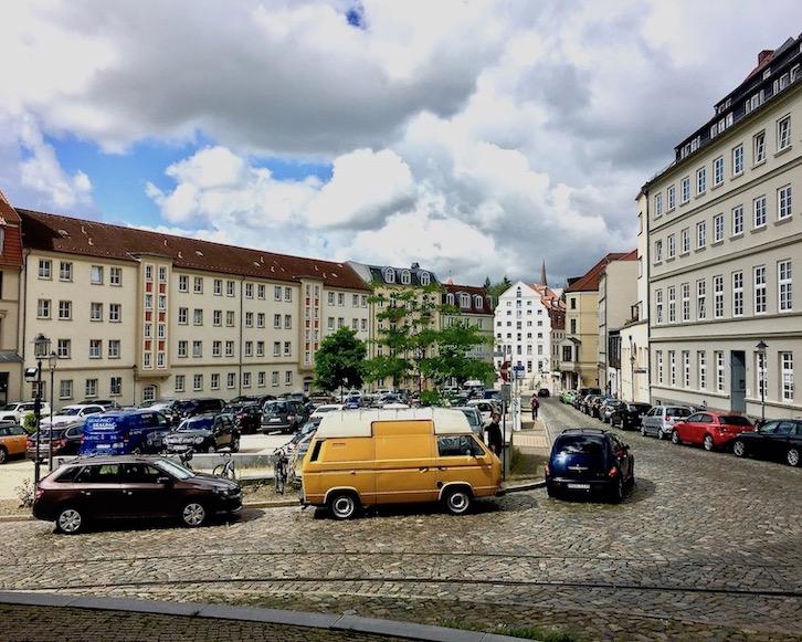 Am Wendländer Schilde Parkplatz Rostock Deutschland