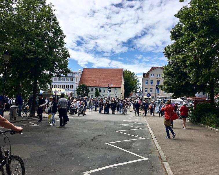 Bahnhofsbrücke-Warnemünde Warnemünde-Rostock Deutschland