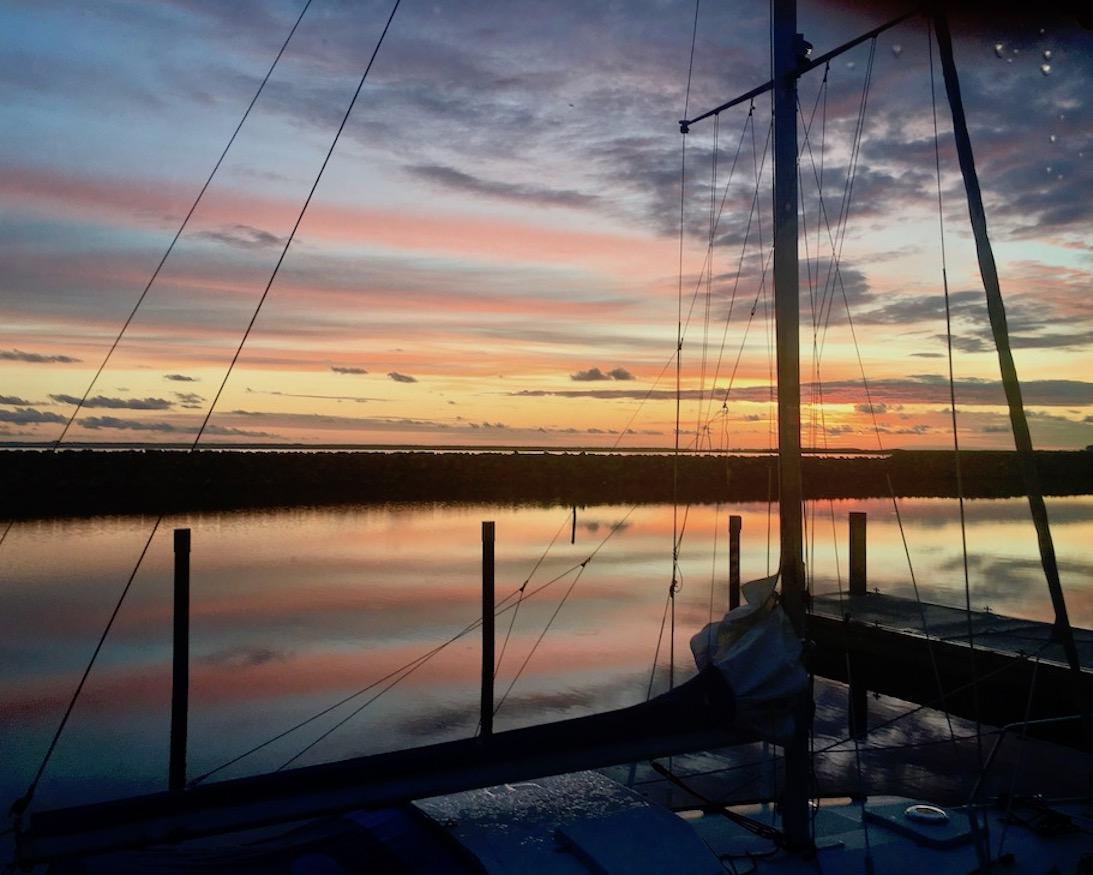 Barth Sonnenaufgang über dem Hafen von Barth Deutschland