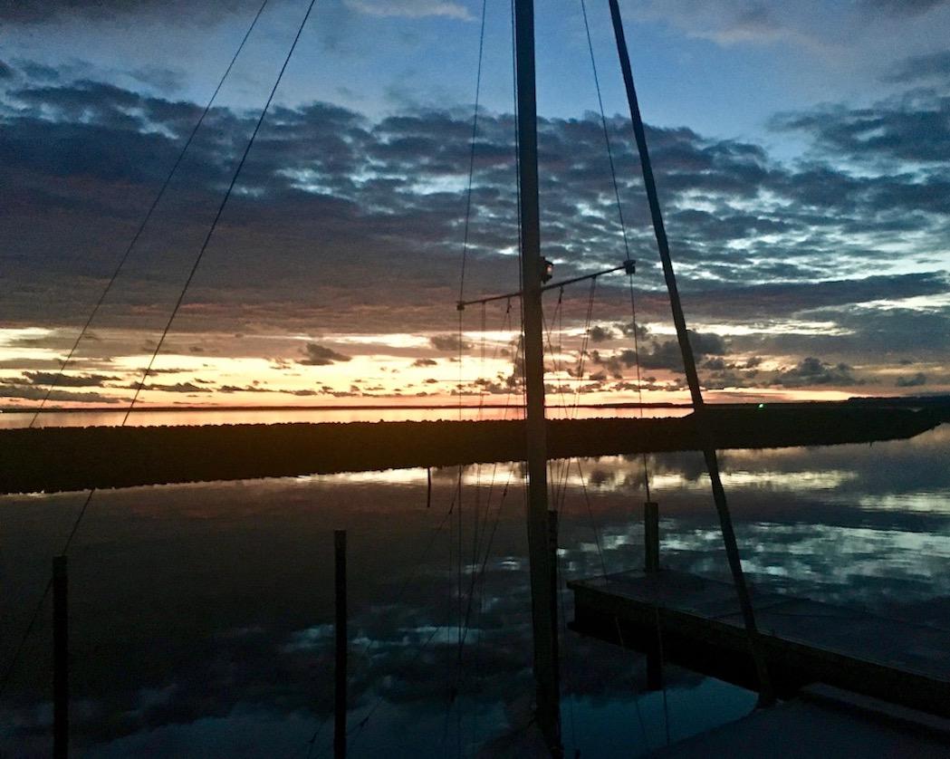 Barth Sonnenaufgang am Hafen