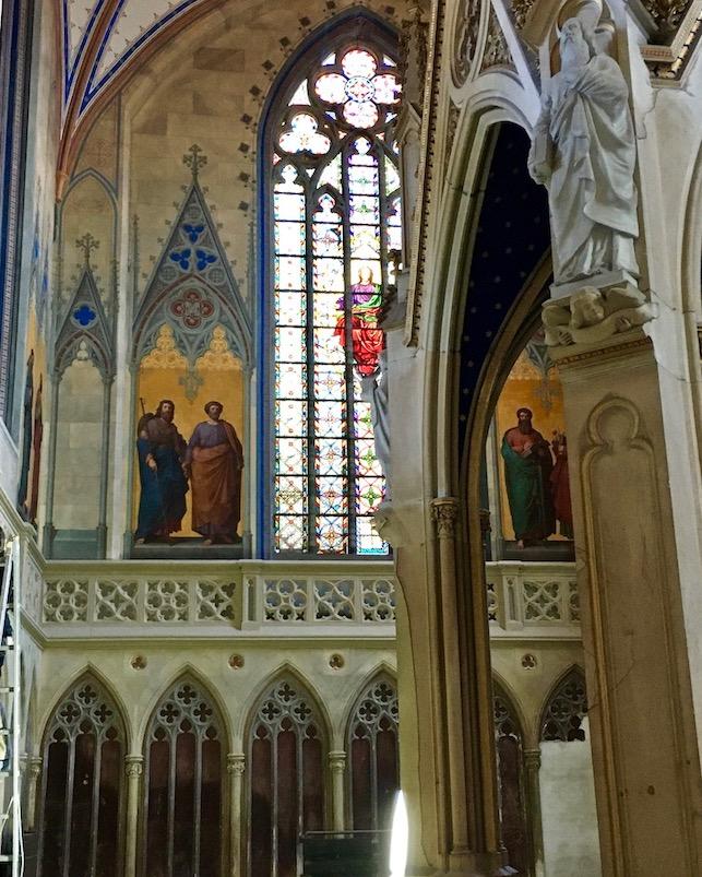 Barth St.Marien-Kirche Altar mit Baldachin Barth Deutschland