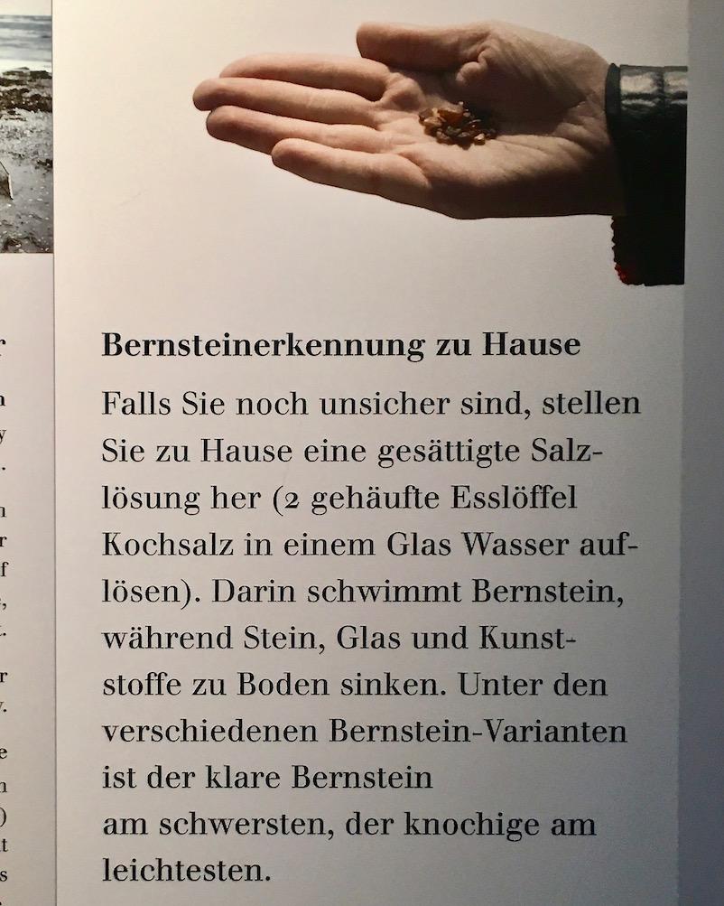 Deutsches Bernsteinmuseum Erkennung