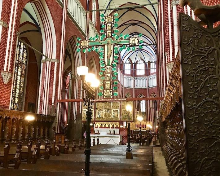 Doberaner Münster Doppelseitiger Kreuzaltar Christusseite Bad Doberan Deutschland