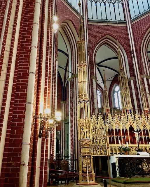 Doberaner Münster Hochaltar mit Sakramentsturm Bad Doberan Deutschland