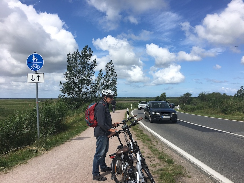 Fahrradweg von Barth nach Zingst
