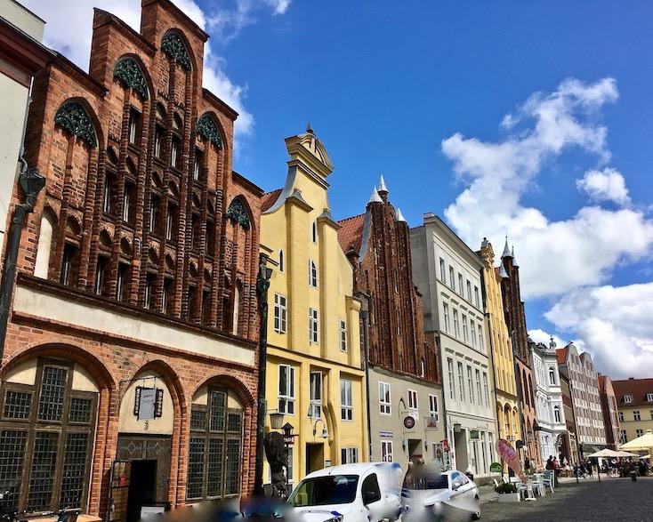 Gotisches Dielenhaus Backsteingotik Mühlenstraße Stralsund im Miniaturformat