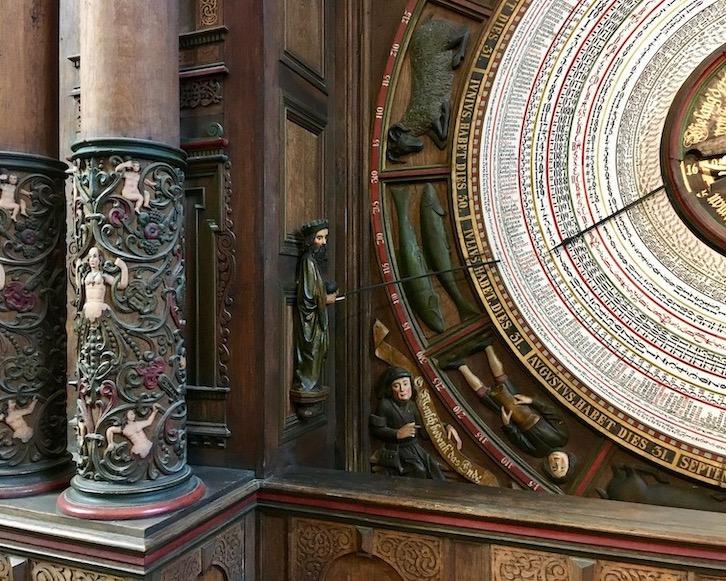 Marienkirche Rostock Astronomische-Uhr Detail Rostock Deutschland