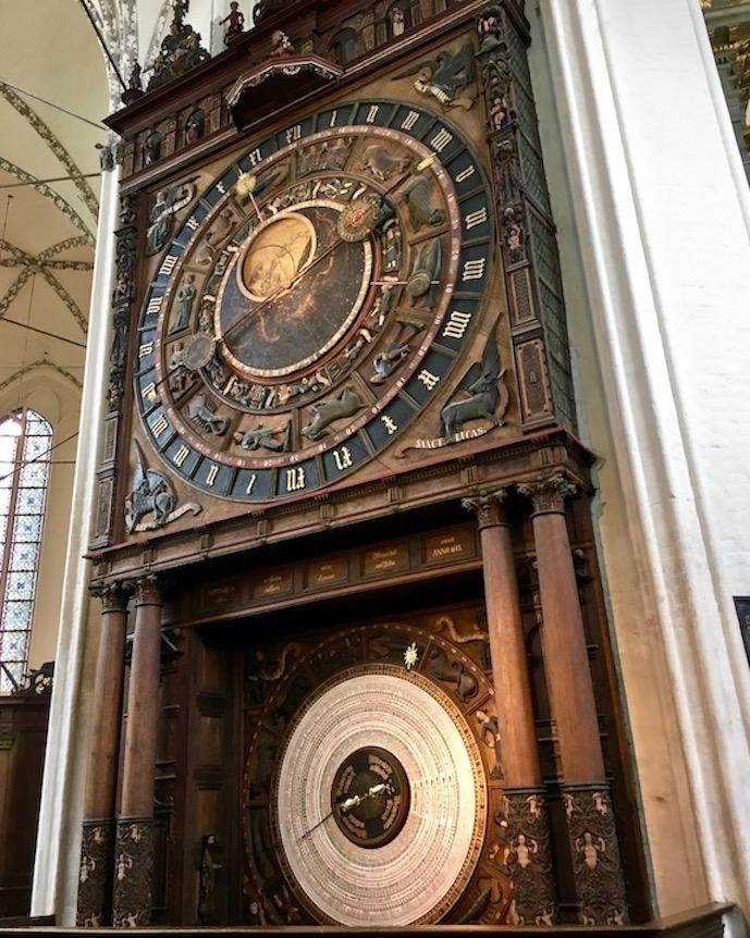 Marienkirche Rostock Astronomische-Uhr Rostock Deutschland