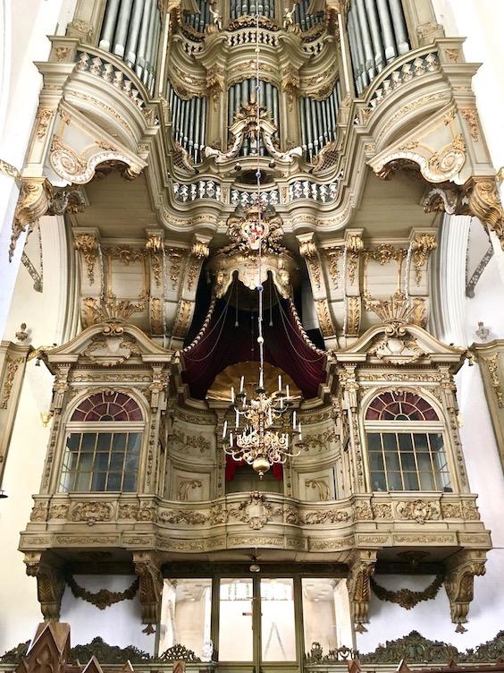 Marienkirche Rostock Fürstenloge unter der Orgel Rostock Deutschland