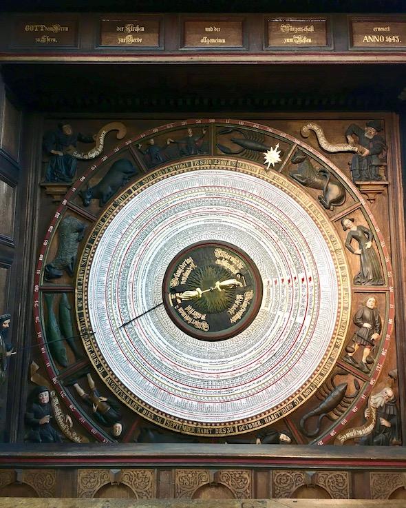 Marienkirche Rostock Kalendarium der Astronomischen-Uhr Rostock Deutschland