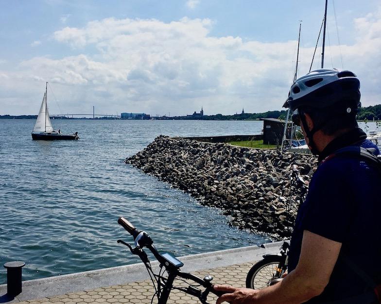 Marina von Parow am Strelasund Blick auf Stralsund Deutschland