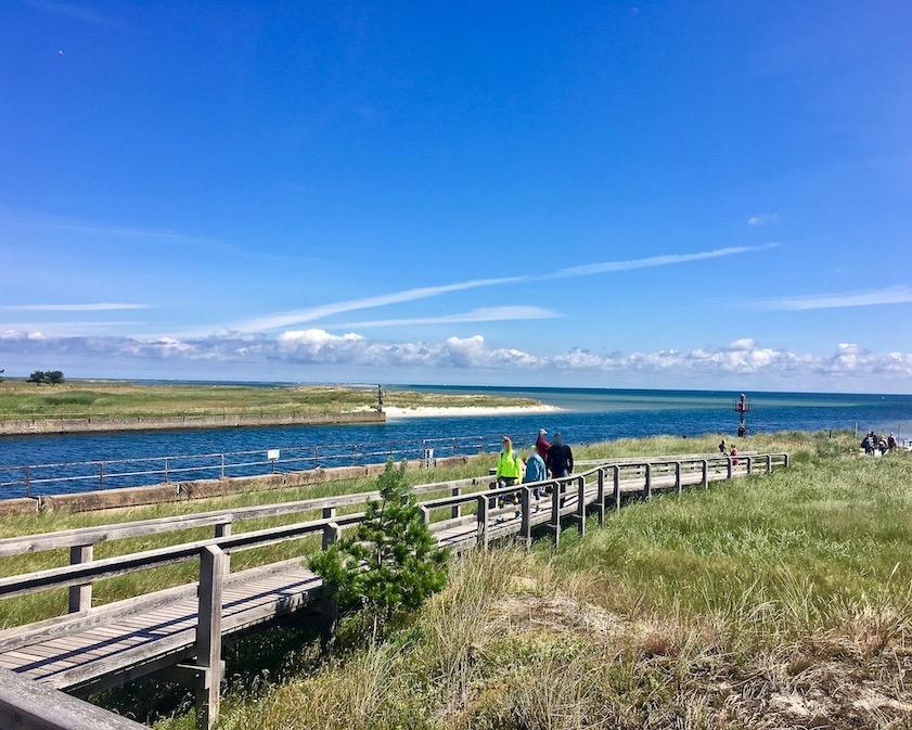Prerow Darßer-Ort Nothafen Weg zum Strand