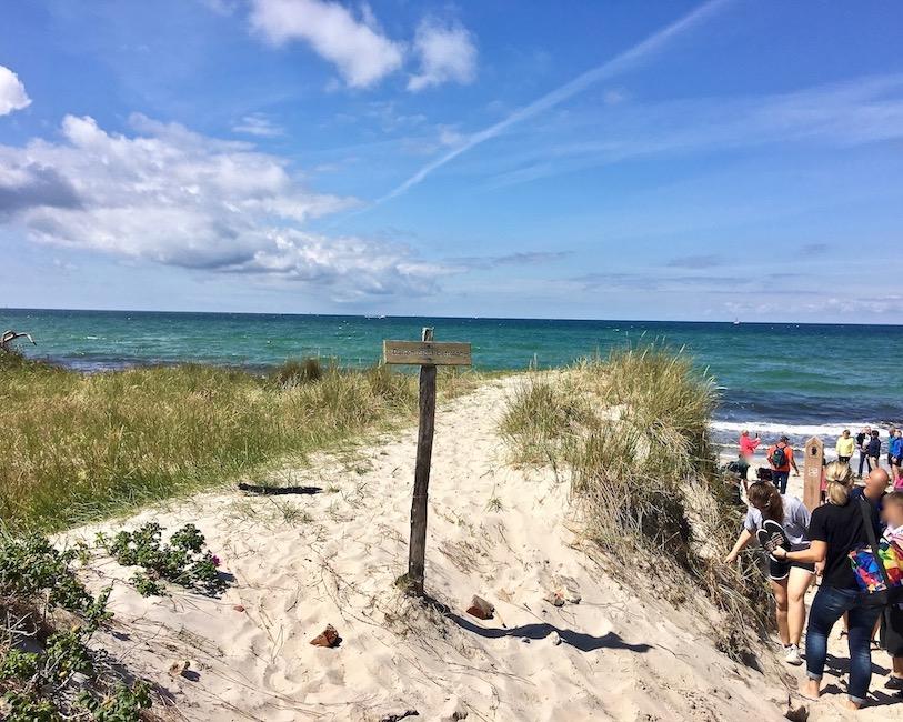 Prerow Darßer-Ort Zugang zum Weststrand