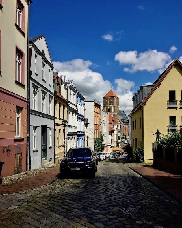 Rostock Beginenberg in der Mittelstadt Rostsock Deutschland