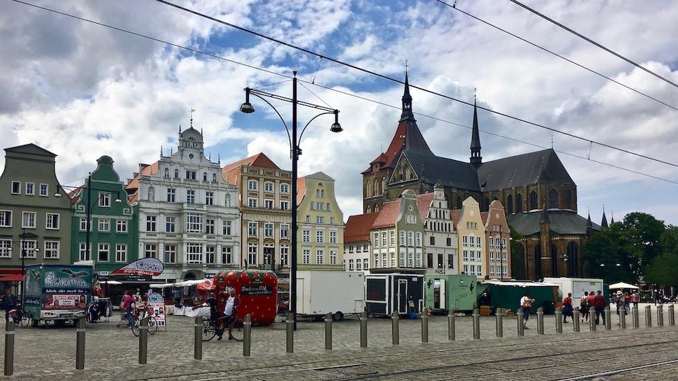 Rostock Neuer Markt mit St.Marienkirche Rostock Deutschland