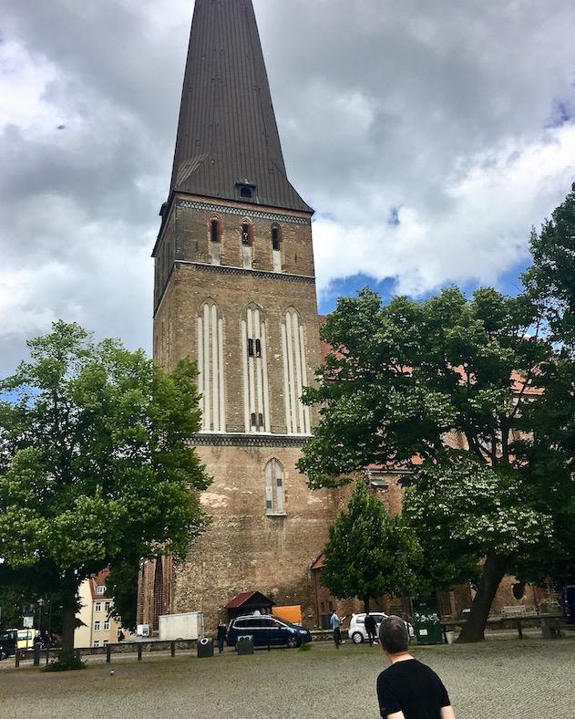 Rostock Petrikirche am alten Markt Rostock Deutschland