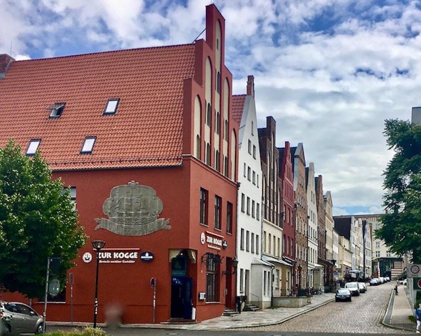 Rostock Rekonstruierte Häuserzeile Zur Kogge Rostock Deutschland