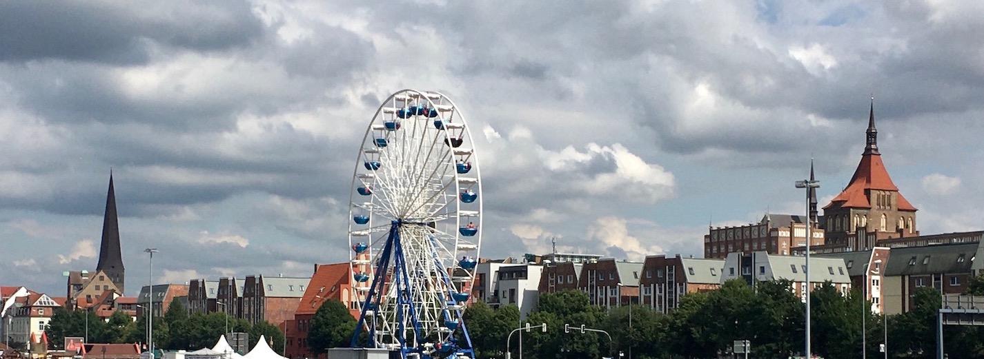 Rostock Stadtansicht vom Stadthafen Rostock Deutschland
