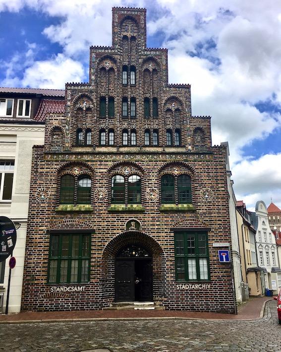 Rostock historisches Kerkhofhaus Stadtarchiv Rostock Deutschland