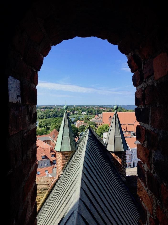 St.Marienkirche Stralsund Ausblick vom Turmrundgang