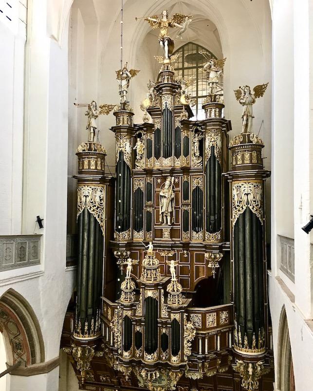 St.Marienkirche Stralsund Blick von der Sängerempore auf die Orgel