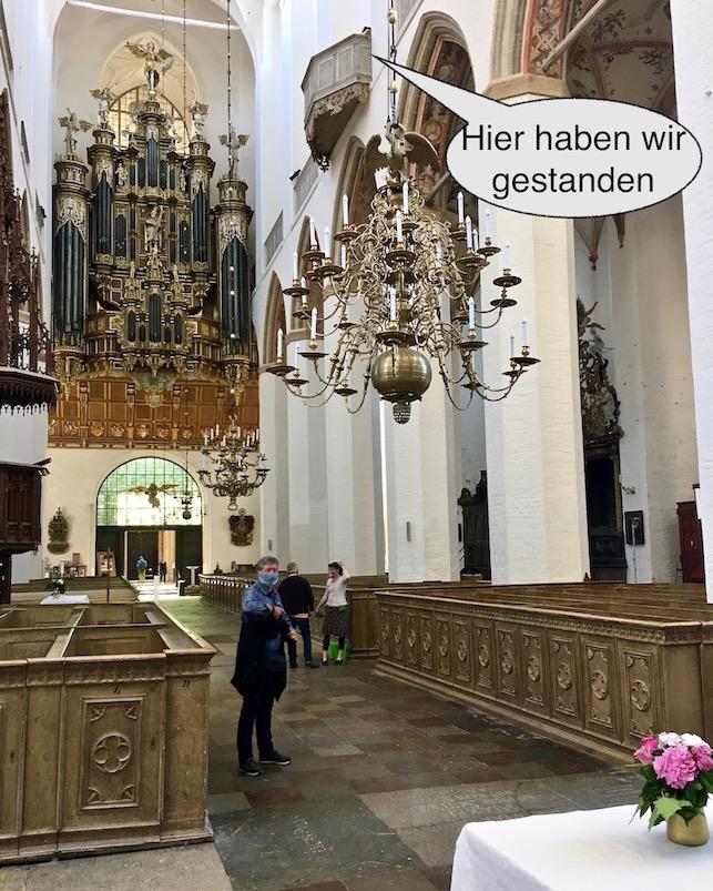 St.Marienkirche Stralsund Innenraum mit Sängerempore