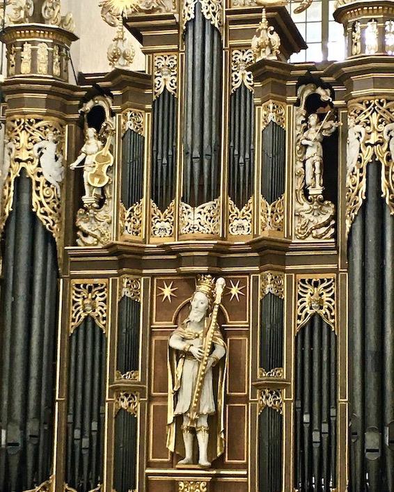 St.Marienkirche Stralsund Orgel von der Sängerempore Detail