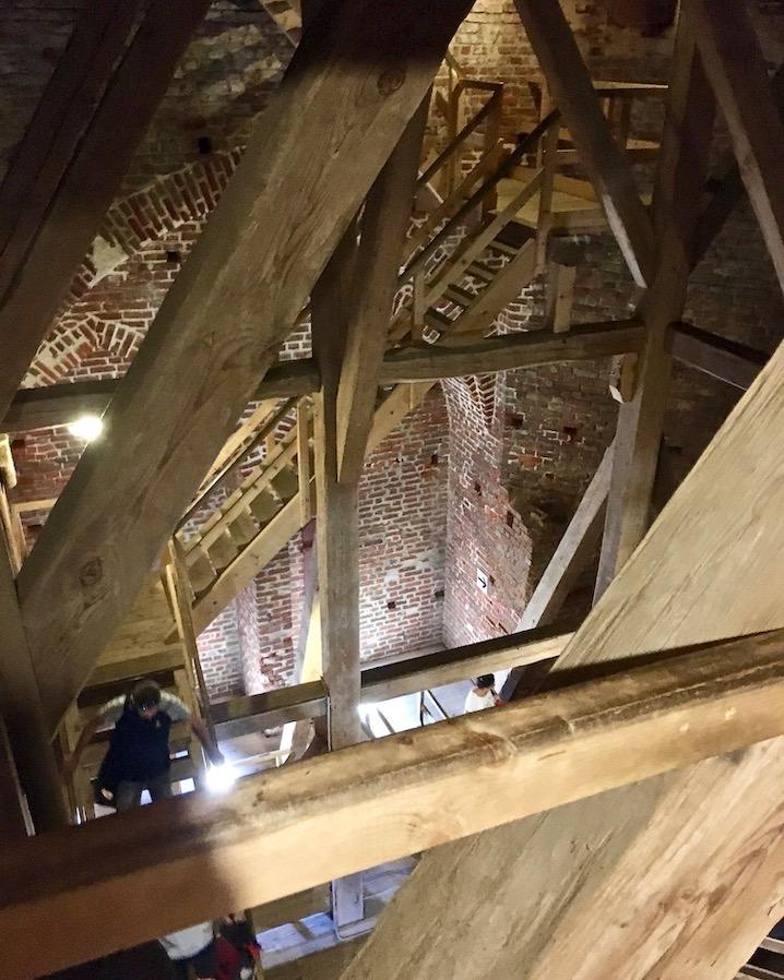 St.Marienkirche Stralsund Treppen zum Turmrundgang