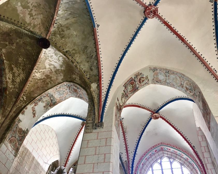 St.Nikolai-Kirche Stralsund Kreuzrippengewölbe teilrestauriert Stralsund Deutschland