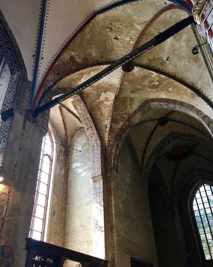 St.Nikolai-Kirche Stralsund Kreuzrippengewölbe unrestauriert