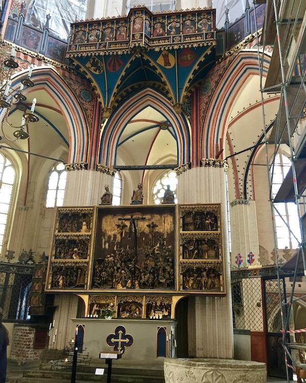 St.Nikolai-Kirche Stralsund Spätgotischer-Hochaltar