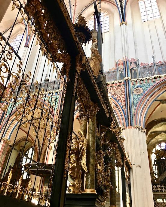 St.Nikolai-Kirche Stralsund Zweiseitige Chorschranke Detail Stralsund Deutschland
