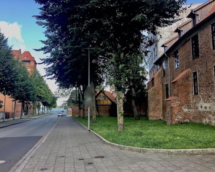 Stadtmauer Stralsund am Fährwall Stralsund Deutschland
